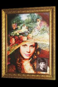 подарок в виде портрета сестры как королевы