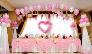 Украшения зала свадебного своими руками