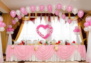 украшаем зал для свадьбы своими руками