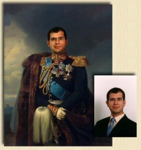 оригинальный портрет шефа - ему в подарок