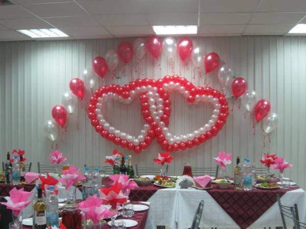 воздушные шары для украшения свадьбы