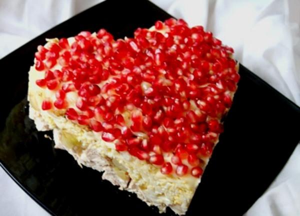 рецепт салата «Пылкая любовь»