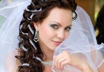 прически невесте на свадьбу с фатой