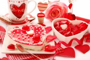 украшение блюд на день святого Валентина