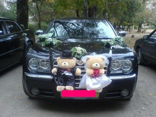 оформление свадебного автомобиля плюшевыми игрушками
