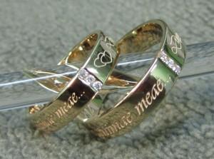 выбираем надпись на обручальное кольцо