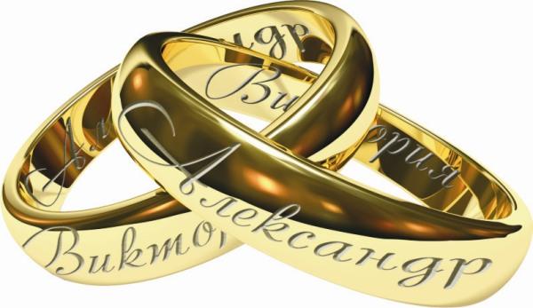 надпись снаружи обручального кольца