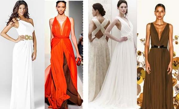 греческий стиль платья