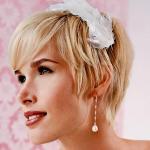 прически на свадьбу короткие волосы