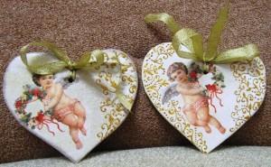 Ситцевое сердце - валентинка для подруги