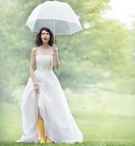 защита свадебной укладки от непогоды