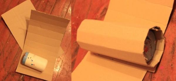 картонные боковушки для пиньяты-сердца