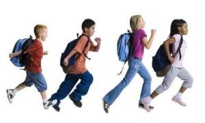 детская эстафета на празднике Дня знаний