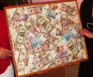 денежная картина как подарок