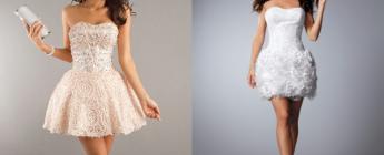 выбираем короткое кружевное свадебное платье