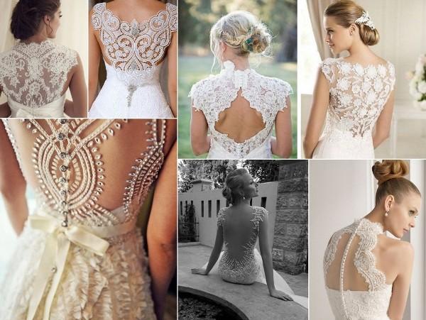 свадебные платья - различные модели с кружевным верхом