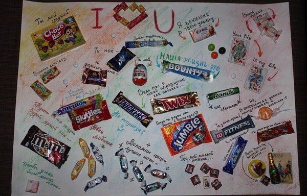 плакаты из шоколада