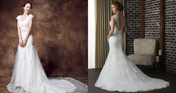 свадебное платье Рыбий хвост