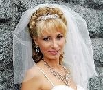 прическа на свадьбу под фату