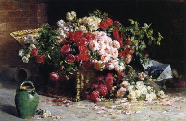 натюрморт с изображением роз