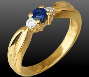 новые сапфировые кольца супругов