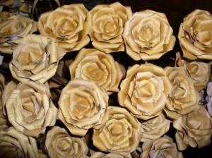 букет цветов из бересты