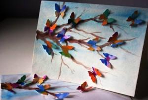 открытка с бабочками сделанная своими руками