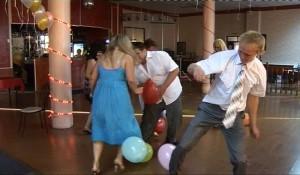 футбол воздушными шариками