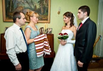 благословение молодоженов родителями на свадьбе