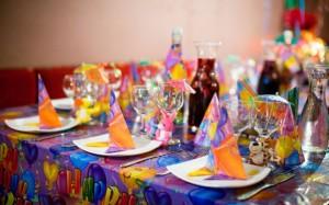сервировка стола для дня рождения ребенка