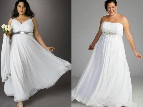 платье для полной невесты в греческом стиле