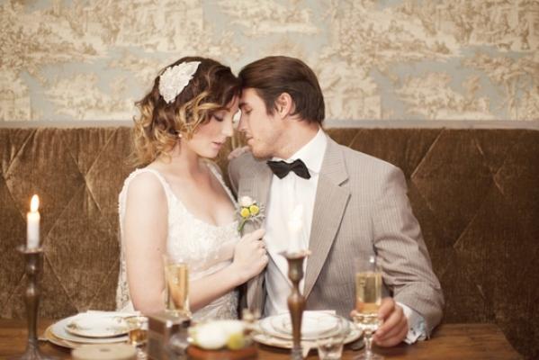 жених и невеста на свадьбе шебби шик