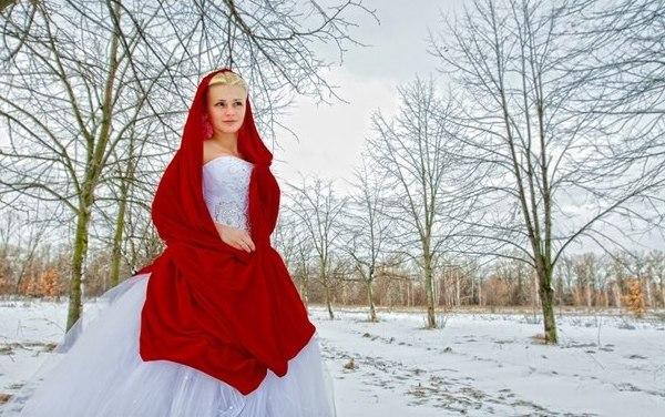 выбираем платье невесте на зимнюю фотосессию