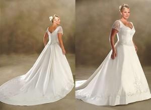 оригинальное платье для полной невесты