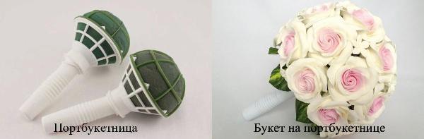 букет невесты круглой формы