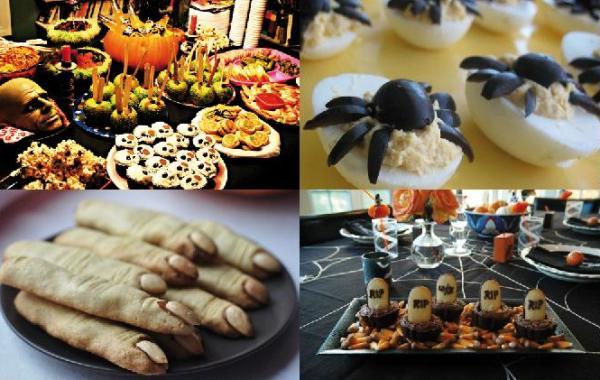 как оформить блюда на ДР в стиле Хэллоуина