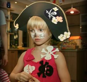 пиратская шляпа на карнавал для девочки