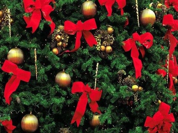 банты для украшения елки на новый год
