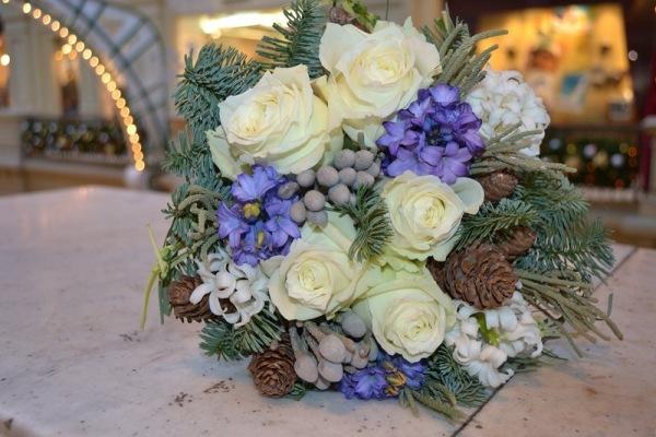 букет на свадьбу зимой