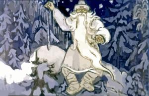 сценка в лесу Морозко и его помощники