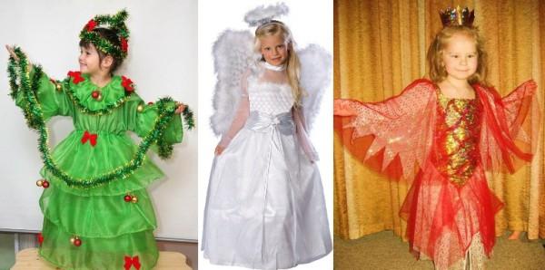 Экспресс-наряды для девочек на новый год