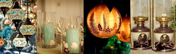 какое используется освещение на свадьбе Бохо Шик