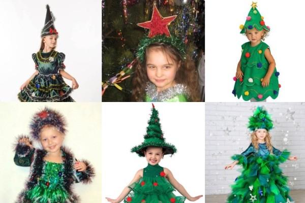 главный элемент новогоднего костюма елки