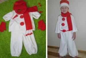 костюм снеговичка из флиса