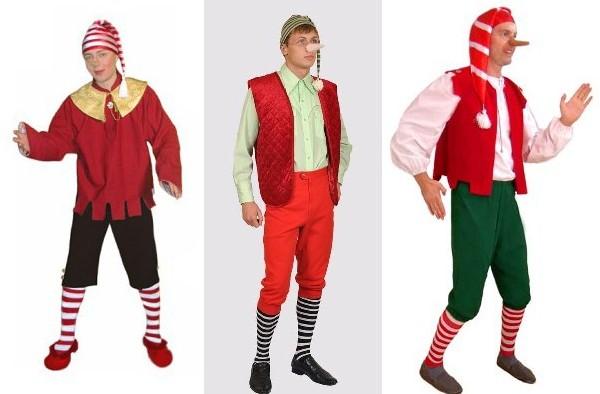 карнавальный наряд Буратино для Нового года