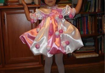 делаем новогодний костюм Бусинки для девочки