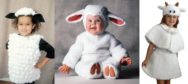 новогодний наряд овечка - для девочки