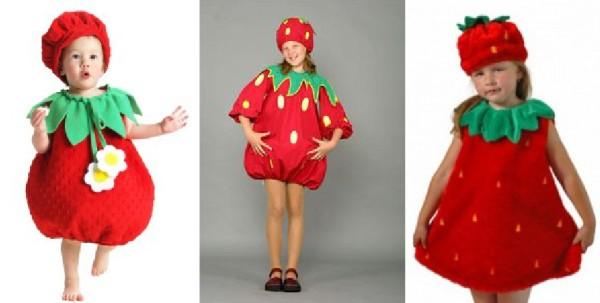 новогодний наряд в виде ягодки клубники для девочки