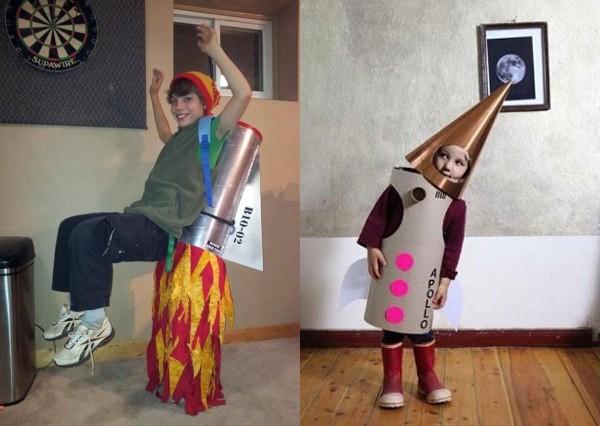 оригинальный костюм Ракета для мальчика на елку