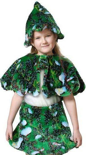 как быстро сделать костюм елочки девочке на новый год
